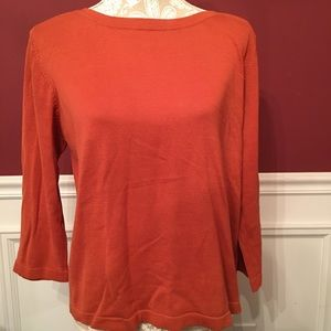 COLDWATER CREEK LIGHTWEIGHT SWEATER BOAT NECK / L